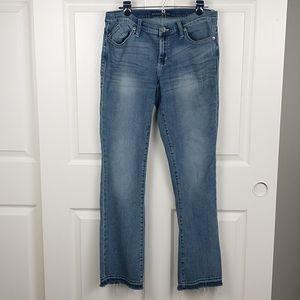 Rock & Republic Kasandra raw released hem jeans